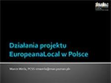 Działania projektu EuropeanaLocal w Polsce