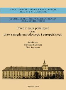 Obowiązek współpracy państw członkowskich z Międzynarodowym Trybunałem Karnym a zobowiązania wynikające z innych źródeł w kontekście immunitetów funkcjonariuszy państwowych : zależność między art. 27 i art. 98(1) Statutu rzymskiego