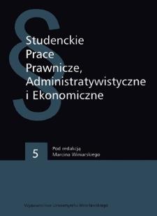Studenckie Prace Prawnicze, Administratywistyczne i Ekonomiczne - Wstęp