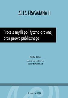 Prace z myśli polityczno-prawnej oraz prawa publicznego - Wstęp