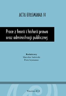 Prace z teorii i historii prawa oraz administracji publicznej - Wstęp