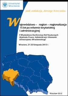 Regionalizacja – zagadnienia procesowoprawne
