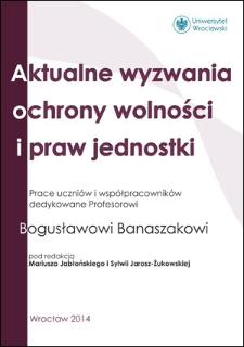 Status organizacji pozarządowych w świetle postanowień Konstytucji Rzeczypospolitej Polskiej z dnia 2 kwietnia 1997 r.