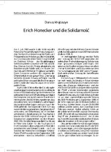 Erich Honecker und die Solidarność
