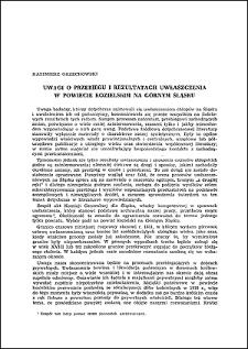 Uwagi o przebiegu i rezultatach uwłaszczenia w powiecie kozielskim na Górnym Śląsku