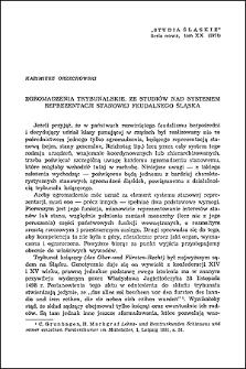 Zgromadzenia trybunalskie ze studiów nad systemem reprezentacji stanowej feudalnego Śląska