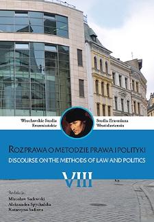 O metodzie socjologicznej w badaniu prawa