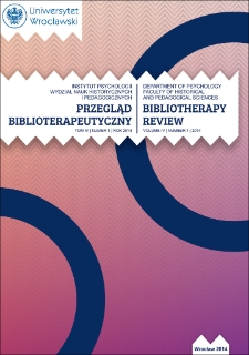 "Art therapy with particular regard to bibliotherapy in the pages of selected journals for librarians (""Poradnik Bibliotekarza"", ""Bibliotekarz"", ""Biblioteka w Szkole"") in 2009-2011 - an attempt annotated bibliography"