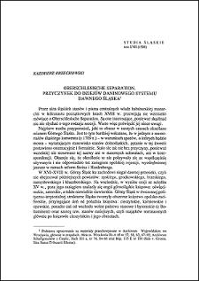 Oberschlesische Separation : przyczynek do dziejów daninowego systemu dawnego Śląska