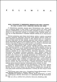 Kilka wyjaśnień w przedmiocie przekształceń praw chłopów do ziemi w końcu XVIII i pierwszej połowie XIX wieku