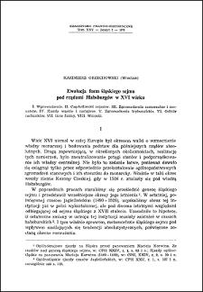 Ewolucja form śląskiego sejmu pod rządami Habsburgów w XVI wieku