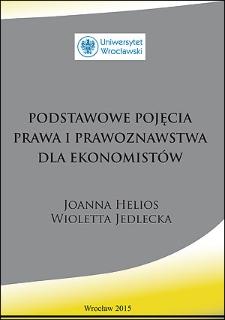 Podstawowe pojęcia prawa i prawoznawstwa dla ekonomistów
