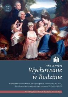 Wychowanie w Rodzinie, T. 14 (2/2016). Wprowadzenie