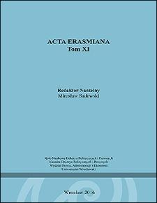 Acta Erasmiana - Wstęp