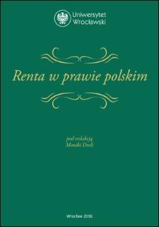 Renta w prawie polskim : Spis treści ; Bibliografia