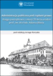 Administracja publiczna pod rządami prawa arozporządzalność jednostki prawem do obrony