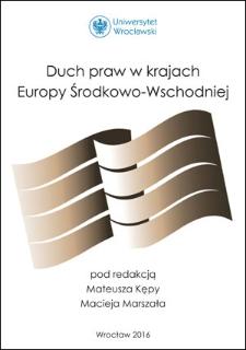 Wstęp : Duch praw wrozważaniach młodych prawników zkrajów Europy Środkowej iWschodniej