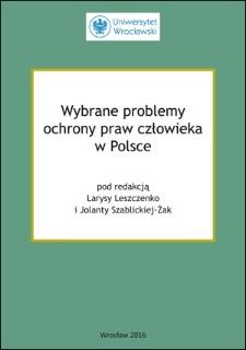 Wybrane problemy ochrony praw człowieka w Polsce ; Wstęp ; List do uczestników seminarium