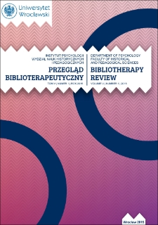 Bibliotherapy Review 2015, vol. V, no. 1 : From Editor