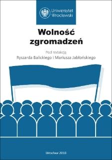 Wolność zgromadzeń : Słowo wstępne