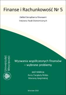 Wyzwania współczesnych finansów – wybrane problemy : Wprowadzenie ; Notki o autorach