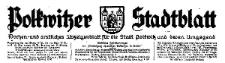 Polkwitzer Stadtblatt. Wochen und Amtliches Anzeigenblatt für die Stadt Polkwitz und deren Umgegend 1930-12-03 Jg. 48 Nr 96