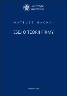 Theory of the firm – an outline