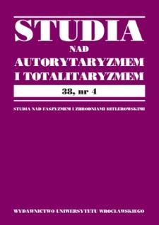 Totalitaryzm i terminy pokrewne w naukach społecznych oraz w polskim języku prawnym i prawniczym