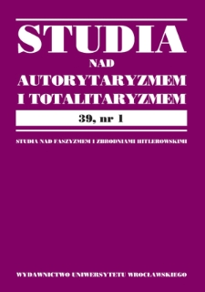 Zasadnicze przejawy ingerencji w prawa podmiotowe prywatne jednostek przez III Rzeszę