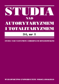 Myśl prawno-polityczna i ustrój włoskiego faszyzmu a inspiracje ideologiczne Vilfreda Pareta