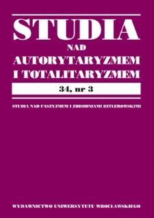 Acta Universitatis Wratislaviensis. Studia nad Autorytaryzmem i Totalitaryzmem. 2012, 34, nr 3