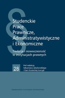"""Zastosowanie doktryny """"owoców drzewa zatrutego"""" na gruncie polskiej procedury cywilnej"""
