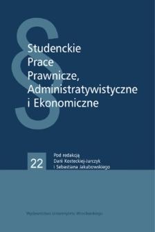Glosa do wyroku Wojewódzkiego Sądu Administracyjnego we Wrocławiu z dnia 23 sierpnia 2017 roku, I SA/Wr 524/17