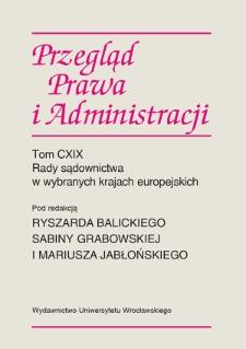 Rada Sądownicza w systemie organów konstytucyjnych Republiki Słowackiej