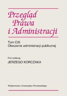 Acta Universitatis Wratislaviensis. Przegląd Prawa i Administracji - Przedmowa