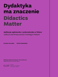 Didactics matter : judicial and prosecutorial training in Poland