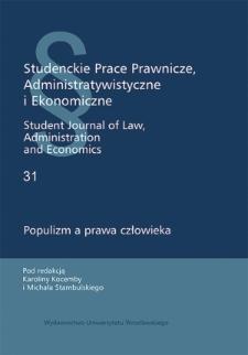 Populizm orzeczniczy w stosowaniu prawa a prawo jednostki do bezstronnego sądu