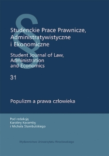Populizm a prawo zgromadzeń. Przykład Polski 2015–2019 roku z uwzględnieniem regulacji wprowadzającej zgromadzenie cykliczne
