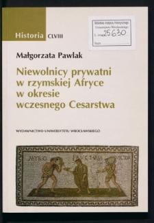 Niewolnicy prywatni w rzymskiej Afryce w okresie wczesnego Cesarstwa