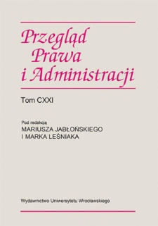 Legal protection of one ̓s private life and protection of information about oneself in the Constitution of the Republic of Poland in the case law of the Constitutional Tribunal — selected aspects