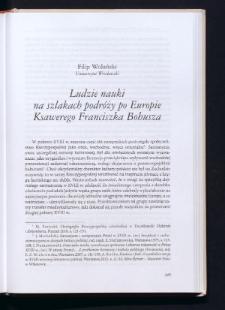 Ludzie nauki na szlakach podróży po Europie Ksawerego Franciszka Bohusza