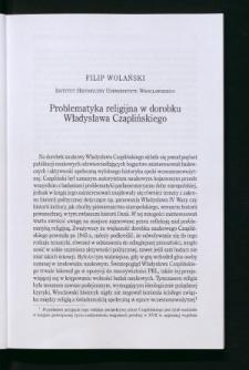 Problematyka religijna w dorobku Władysława Czaplińskiego