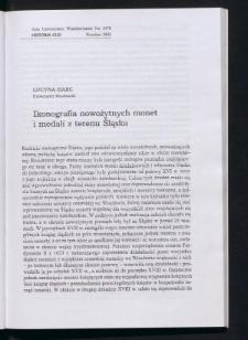 Ikonografia nowożytnych monet i medali z terenu Śląska