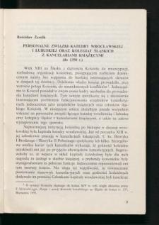 Personalne związki katedry wrocławskiej i lubuskiej oraz kolegiat śląskich z kancelariami książęcymi (do 1350 r.)