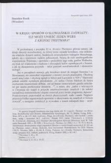 W kręgu sporów o słowiańskie zaświaty. Ile może unieść jeden wers z Kroniki Thietmara?