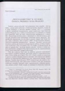 """""""Proces kobryński"""" w 1933 roku. Geneza, przebieg i echa prasowe"""
