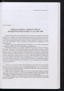 Propagandowe aspekty świata polskich elementarzy z lat 1945-1989