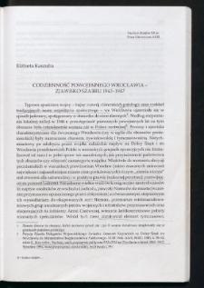 Codzienność powojennego Wrocławia - zjawisko szabru 1945-1947