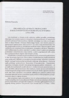 Organizacja aparatu propagandy II Rzeczypospolitej w koncepcjach wojska (1933-1935)