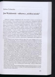"""Jan Wyżykowski - odkrywca """"wielkiej miedzi"""""""